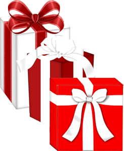 Clipart present gift wrap. Christmas gifts clip art