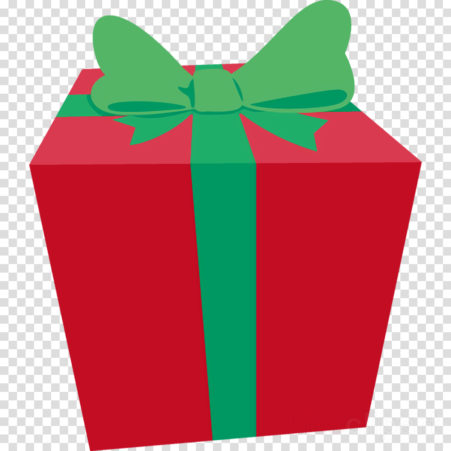 Clipart present gift. Green ribbon clip art