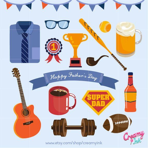 Happy father s day. Clipart present illustration