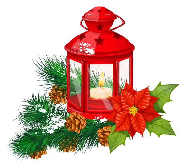 Red christmas transparent png. Clipart present lantern