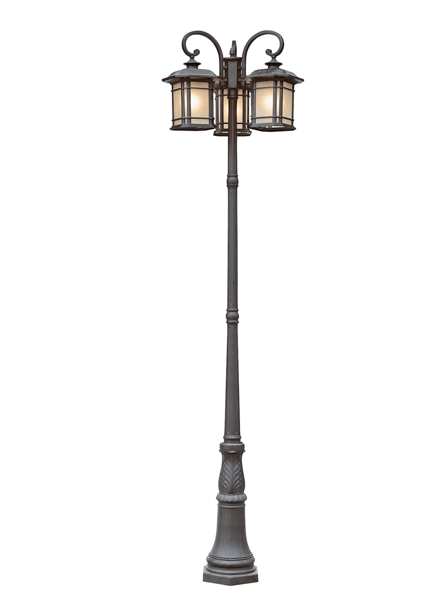Lamp clipart park light. Lantern pole png by