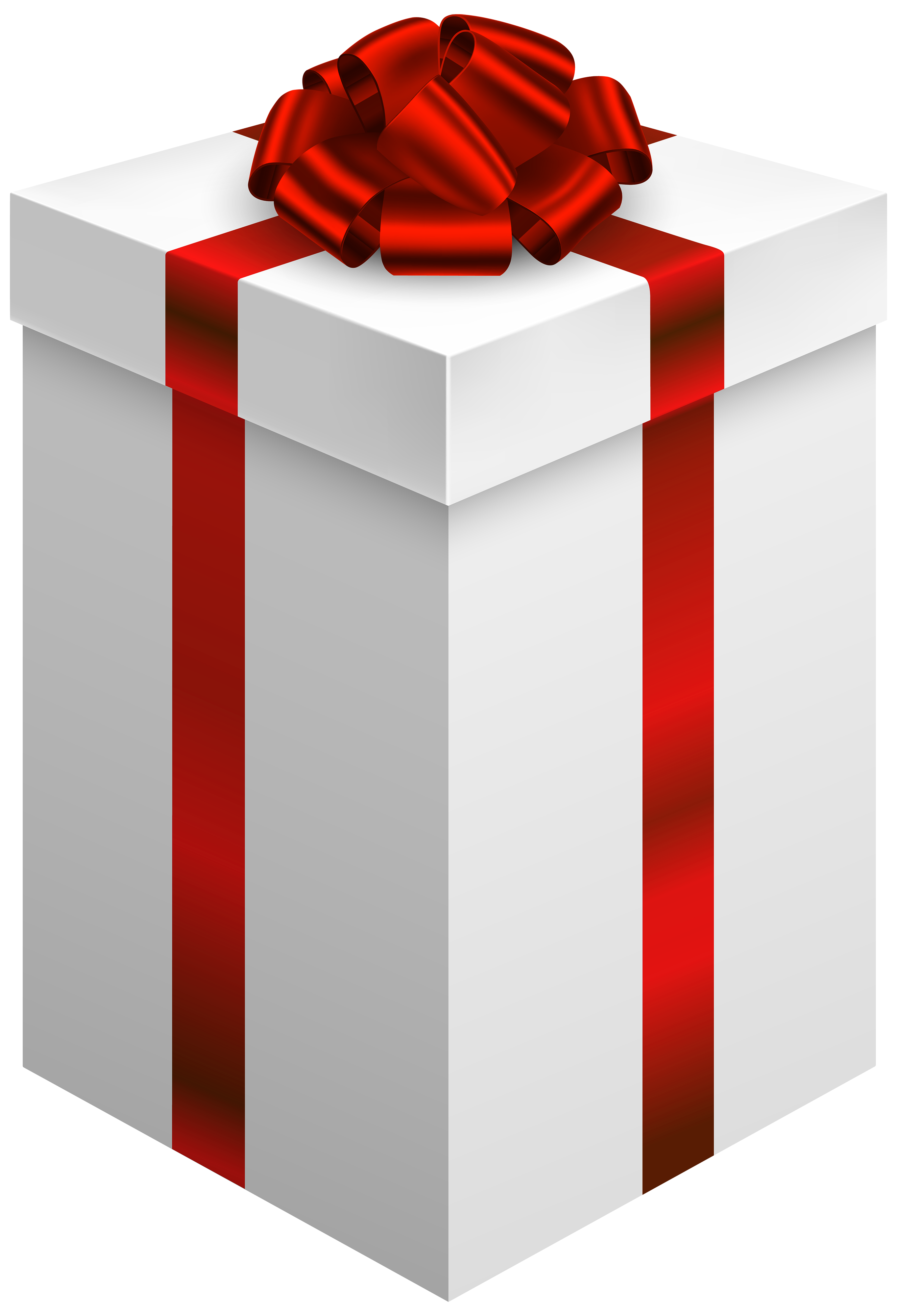 Gift box with red. Clipart present large