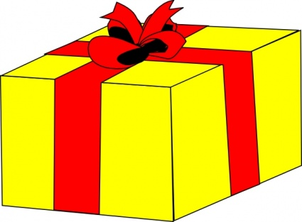 Clipart present large. Gift x free clip