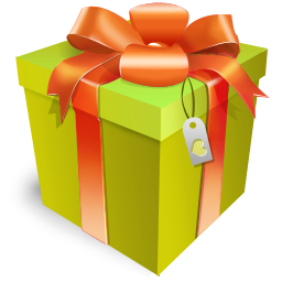 Free gift download clip. Clipart present large