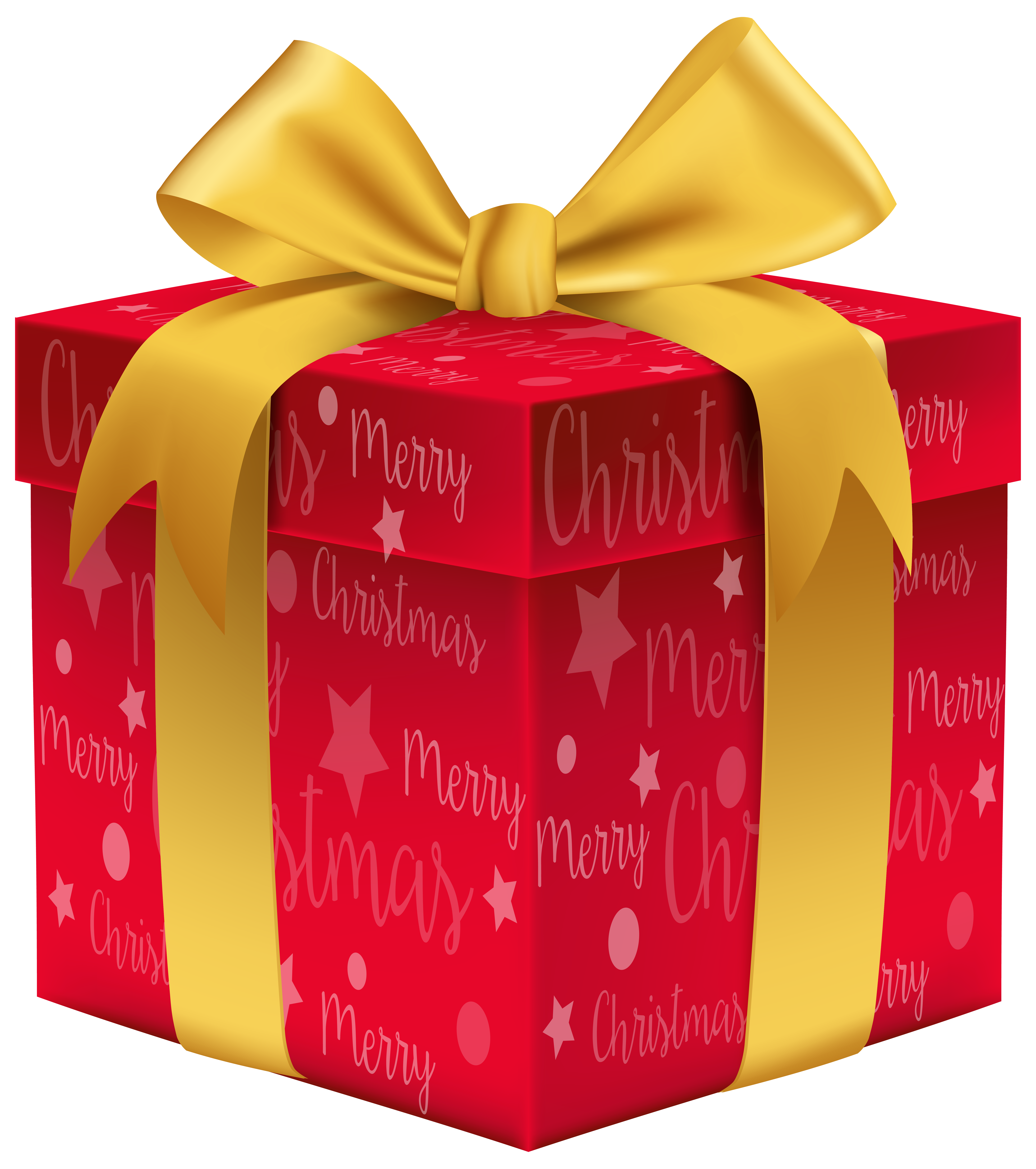 Clipart present merry christmas. Red gift png clip
