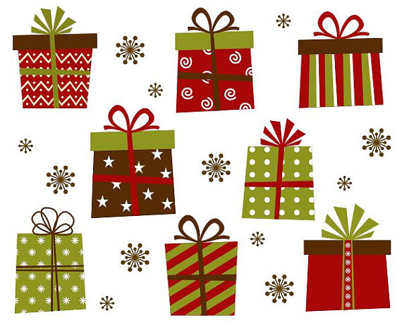 Gift boxes clip art. Clipart present merry christmas