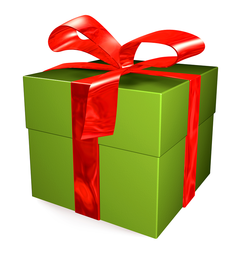 Free christmas gift images. Clipart present one