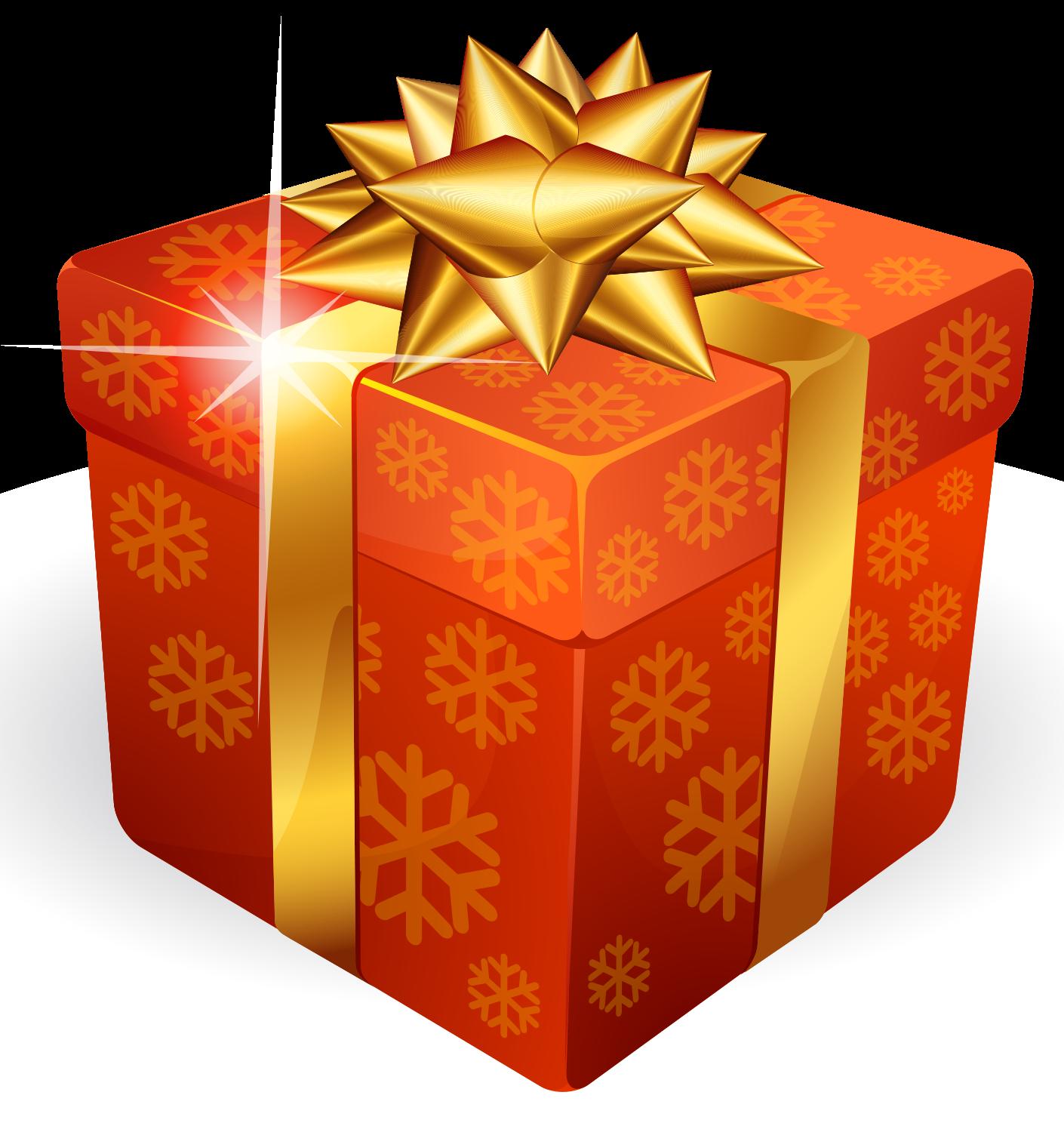 Gift images bdfjade pack. Clipart present orange