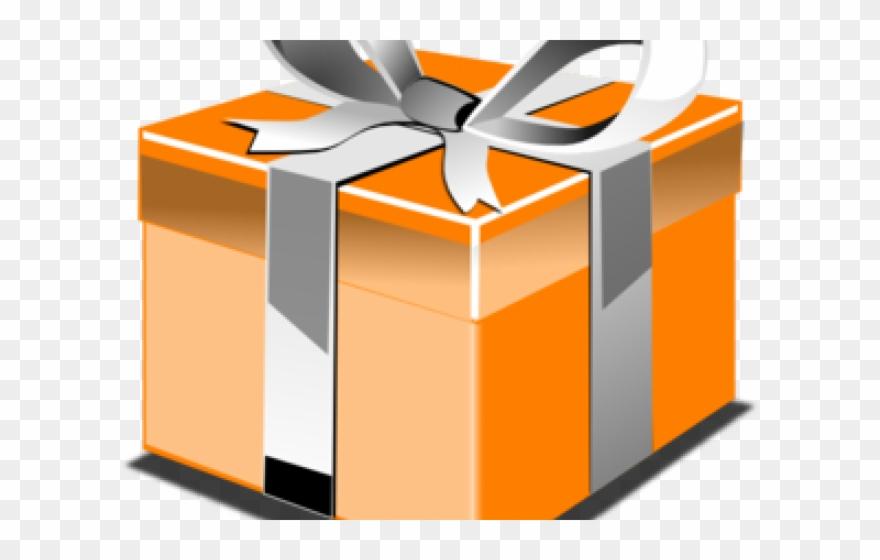 Clipart present orange. Birthday birthda christmas