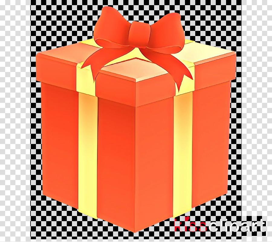 Box transparent clip art. Clipart present orange