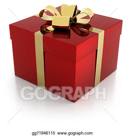 Stock illustration red with. Gift clipart parcel