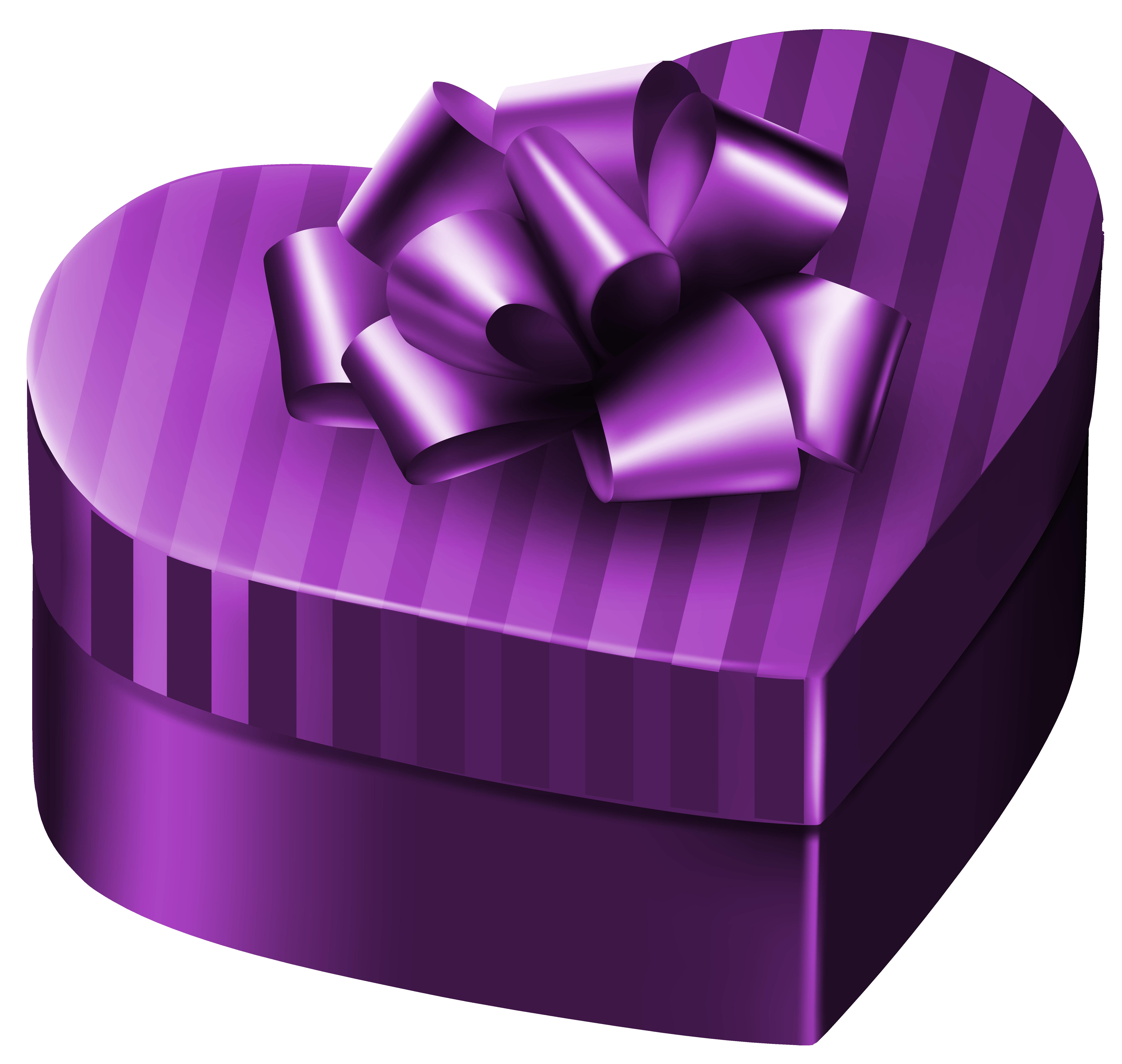 Gift clipart parcel. Purple luxury box heart
