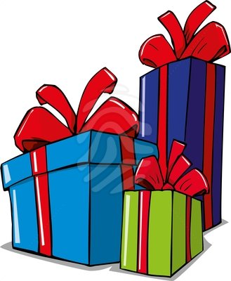 Gift clipart parcel.  christmas presents clip