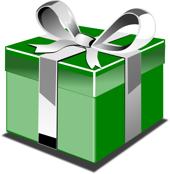Christmas gift panda free. Clipart present parcel