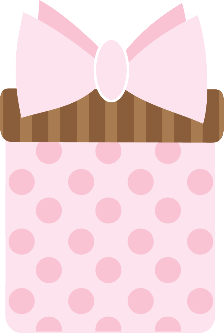 Pink clip art gifts. Clipart present polka dot