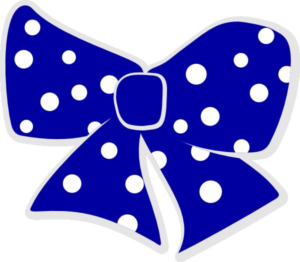 Blue ribbon clip art. Clipart present polka dot
