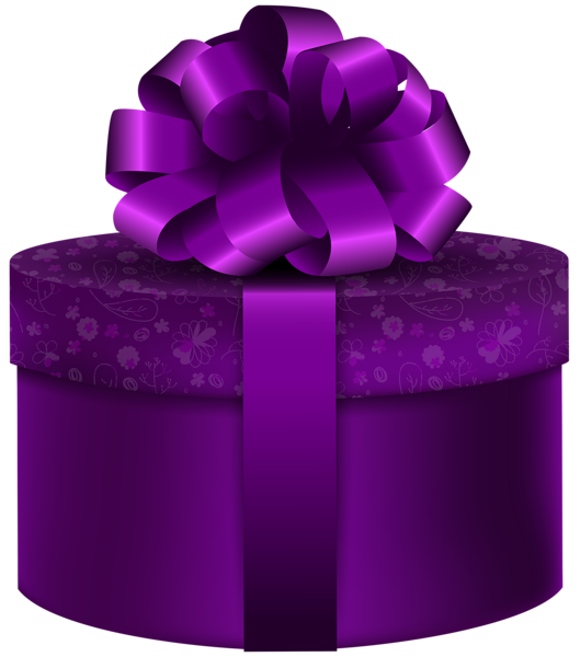 Clipart present polka dot. Purple round gift png