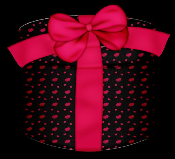 Clipart present polka dot. Black kiss round gift