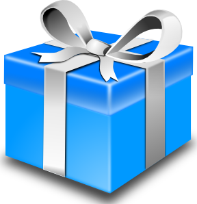 Presence smack dab in. Gift clipart special gift