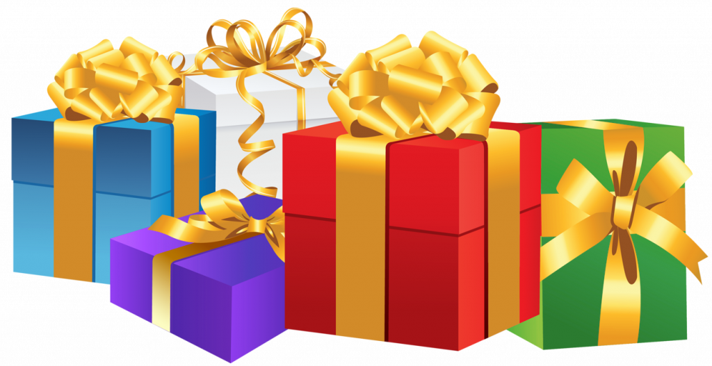 collection of wrapped. Clipart present present pile