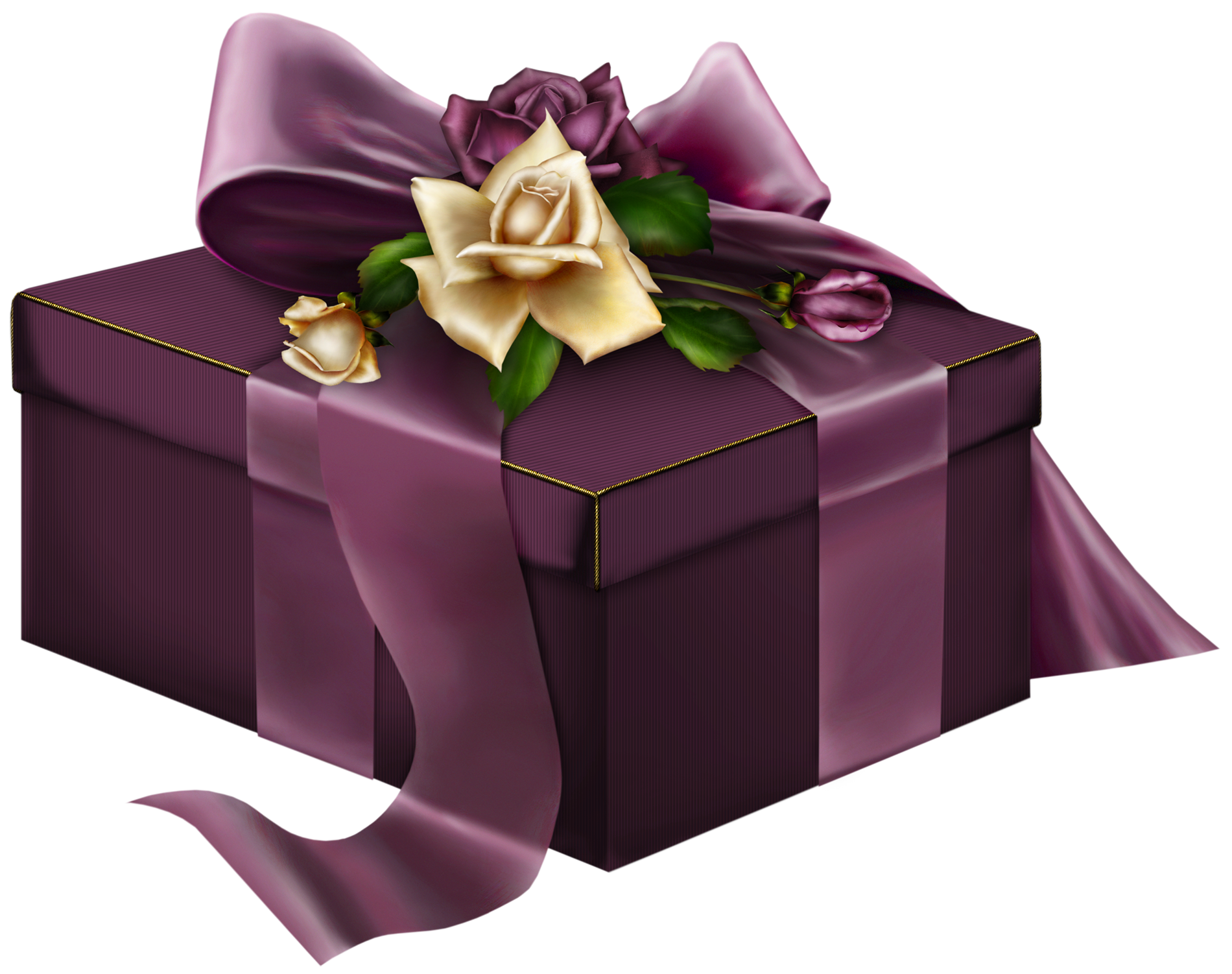 Purple d present with. Clipart rose chocolate