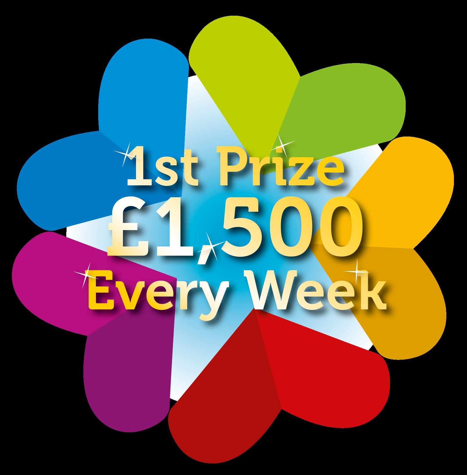 Teesside hospice weekly lottery. Raffle clipart jackpot winner