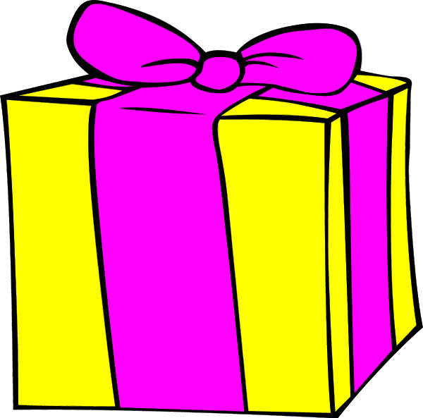 gift clipart yellow