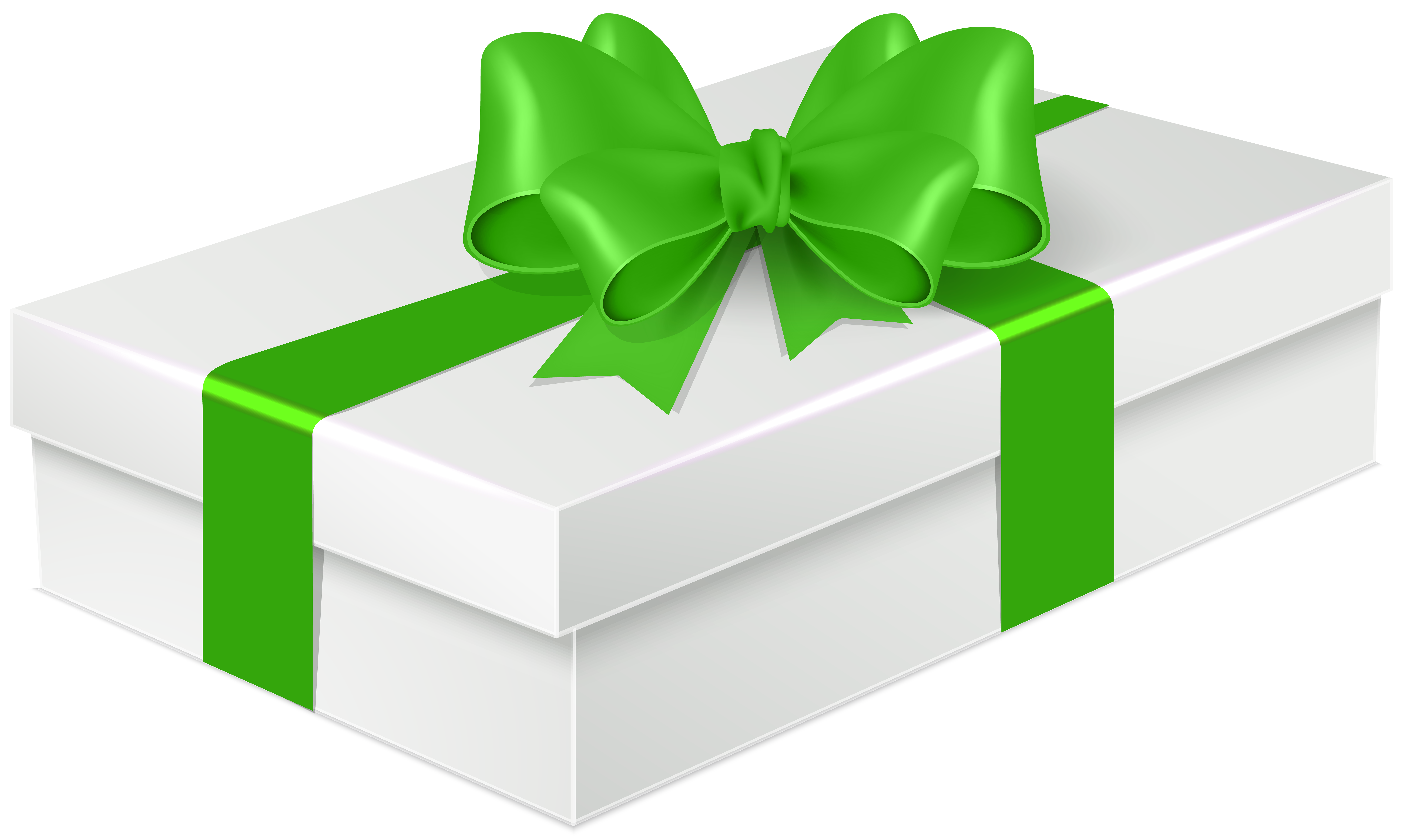 With green bow png. Gift clipart rectangle
