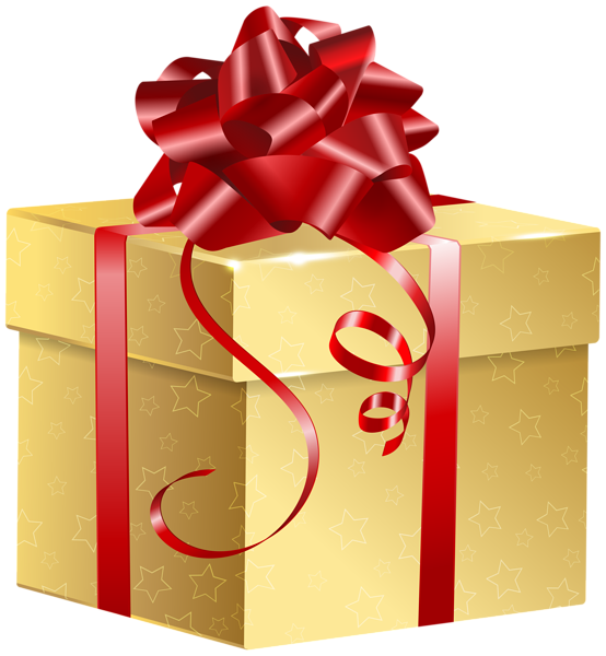 Gallery gifts and chocolates. Clipart present red gold