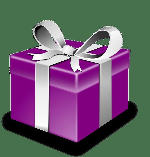 Gift clipart regalo. Caja de morada con