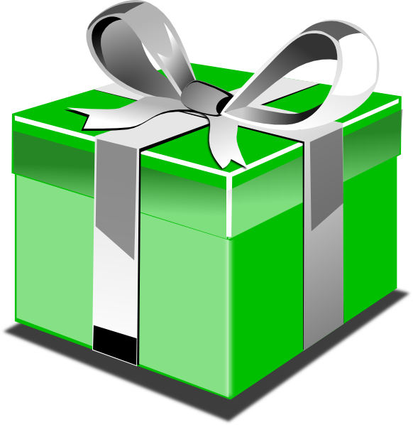 Clipart present regalo. Green clip art at