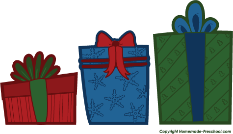 Free christmas . Clipart present row presents