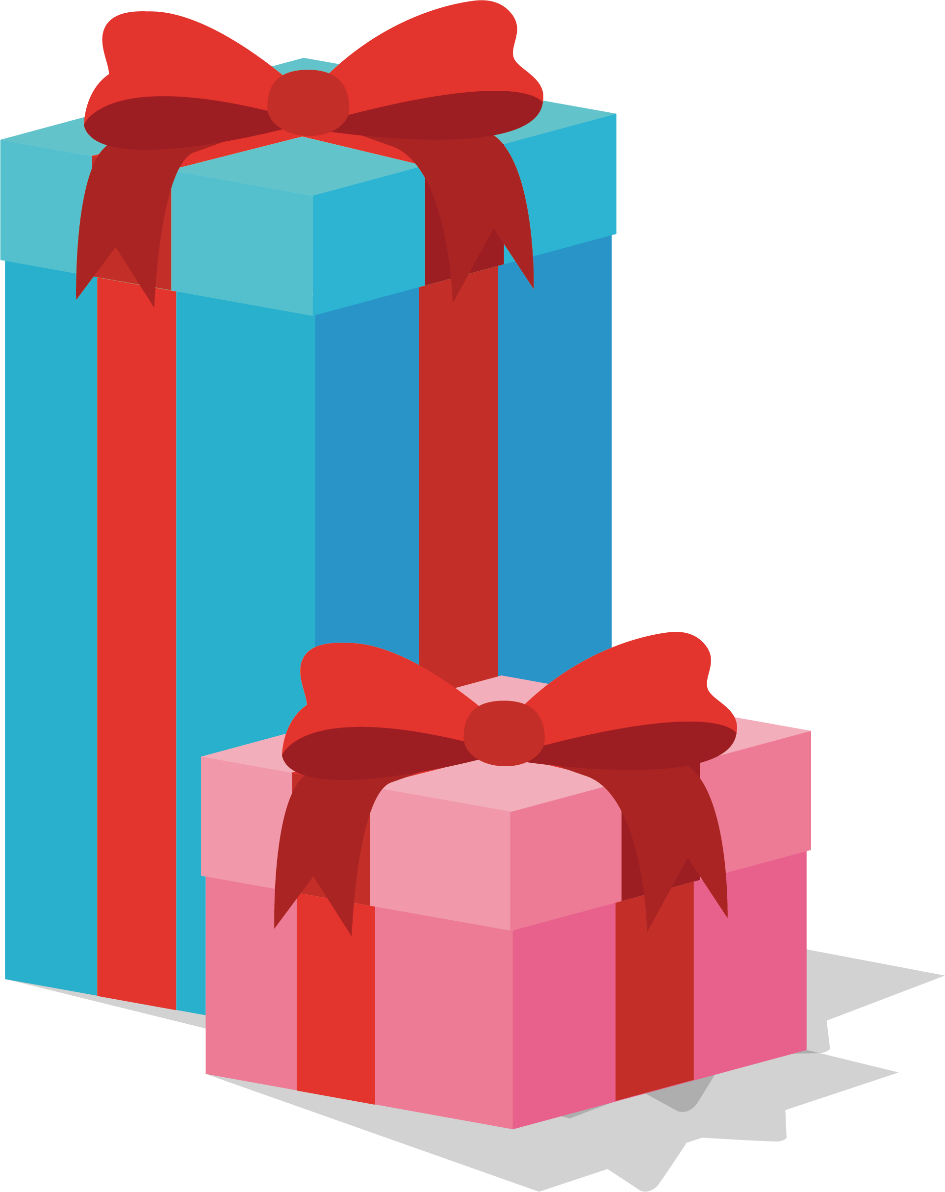 Box clip art two. Clipart present special gift