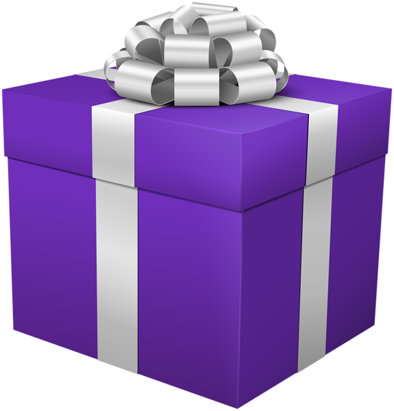 Square clipart square present. Gift box purple png