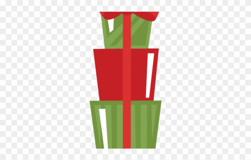 Christmas day png download. Gift clipart stacked present