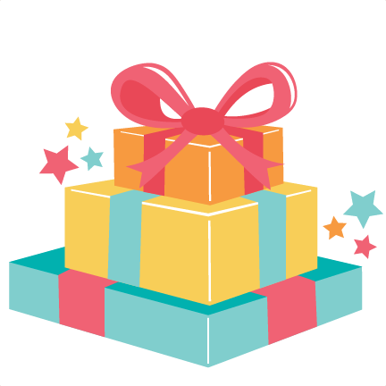 Gift clipart stacked present. Stack of birthday presents