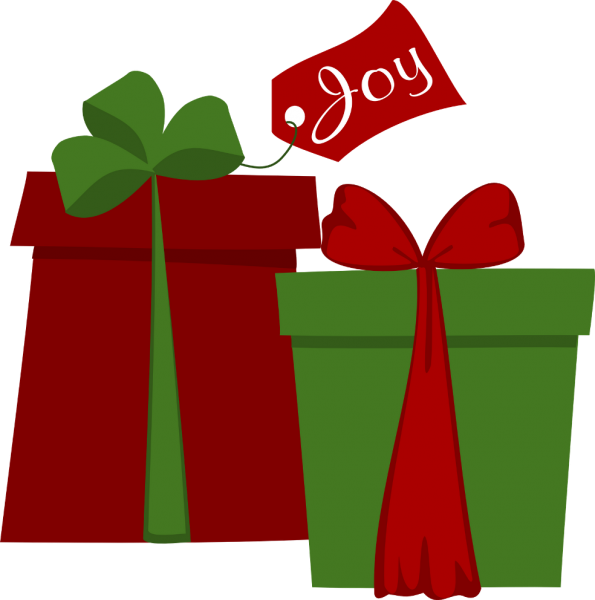 Christmas presents group nice. Clipart present stacked present