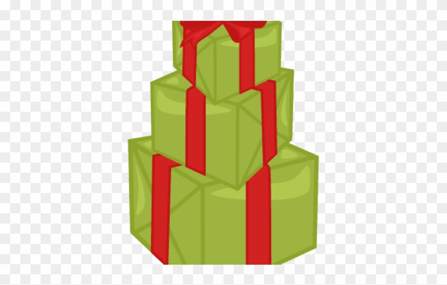 Birthday christmas stack . Clipart present stacked present