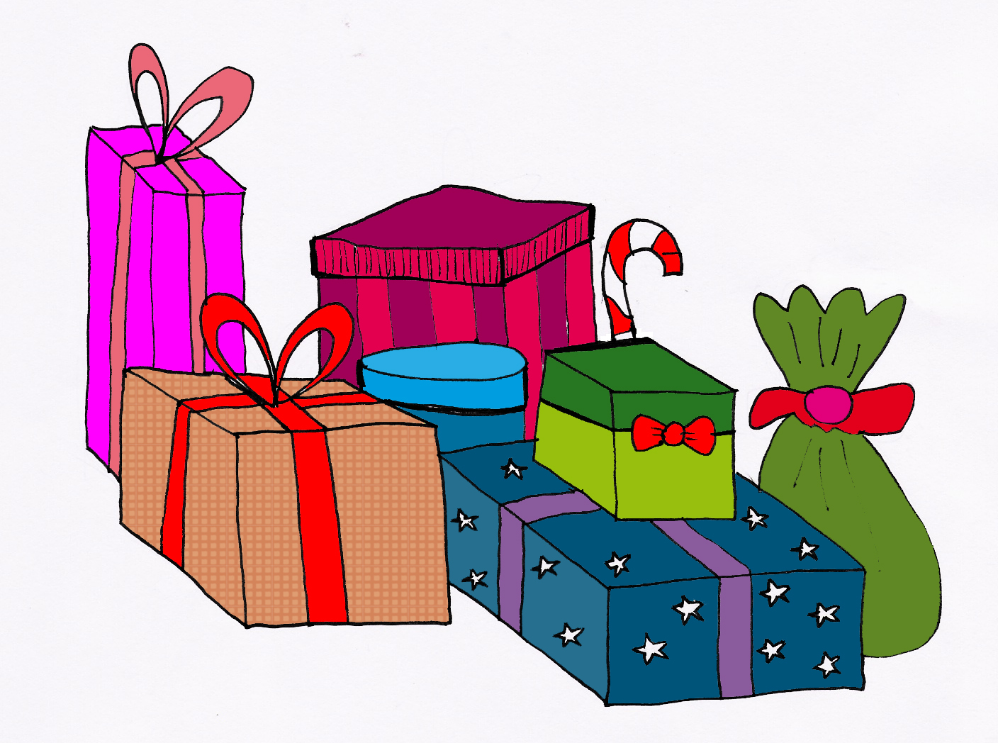 Clipart present stacked present. Stack of christmas presents