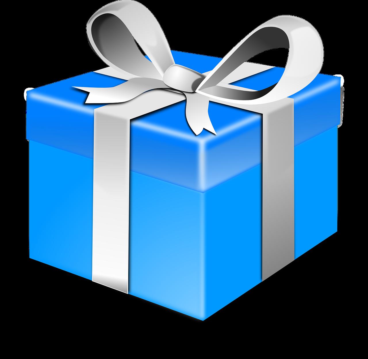Christmas gift clip art. Surprise clipart surprise present