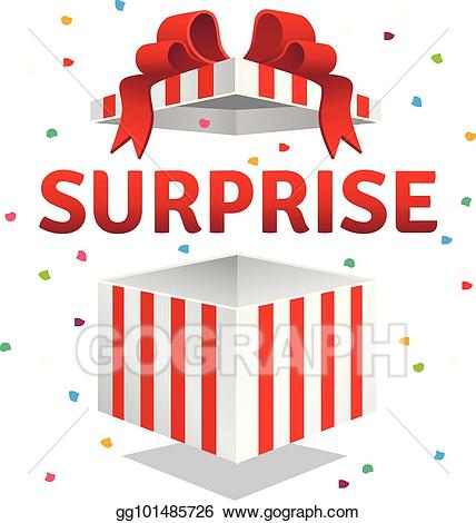 Vector illustration . Surprise clipart surprise gift