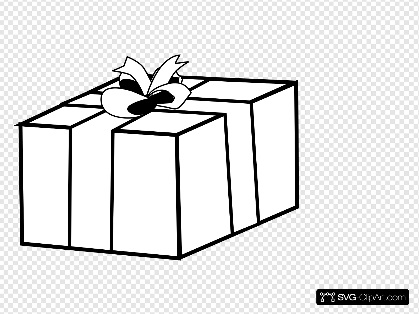 Gift clip art icon. Gifts clipart present outline