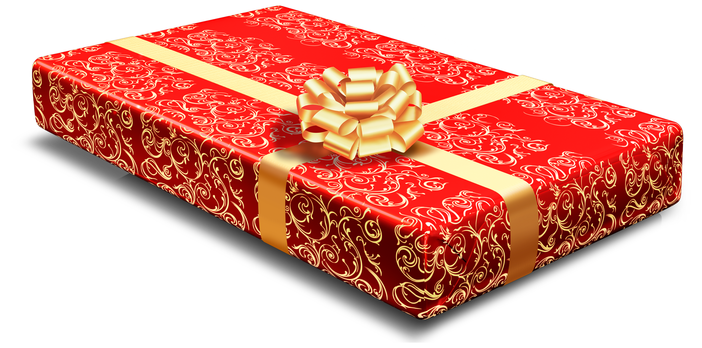 Clipart present tall. Red gift png best