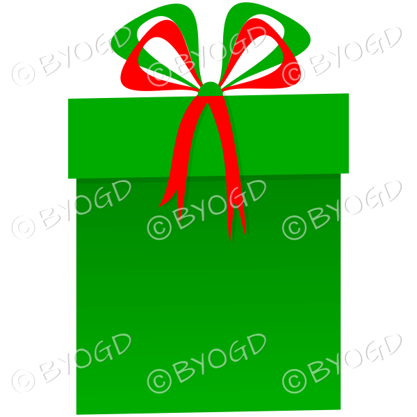 Clipart present tall. Green and red christmas
