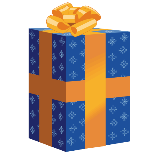 Clipart present tall. Blue christmas gift icon