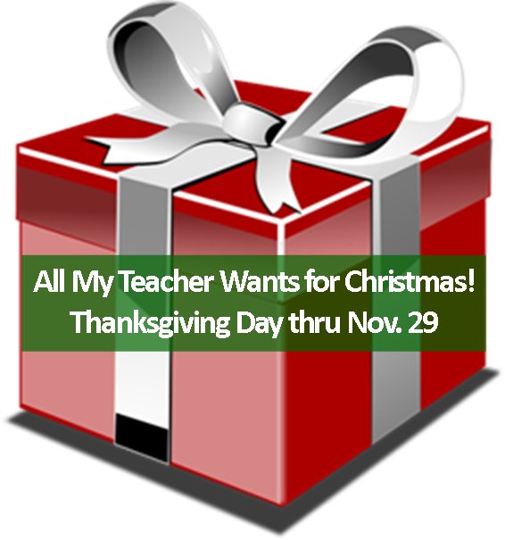 Clipart present teacher gift. Give to all my