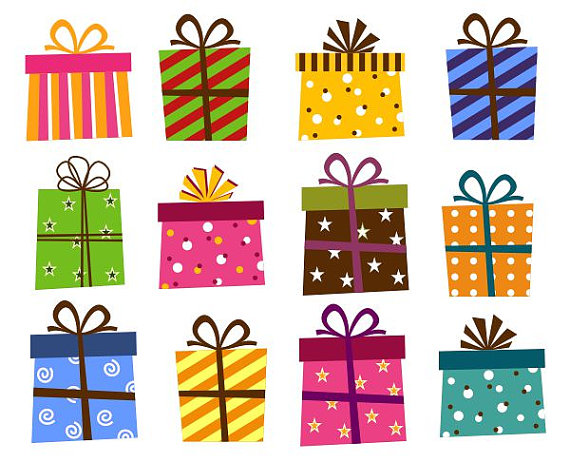 Gifts clipart gift item. Tiny christmas clip art