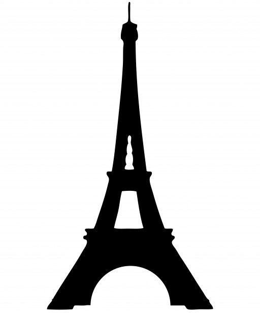 Tower clipart cut out. Eiffel silhouette free stock