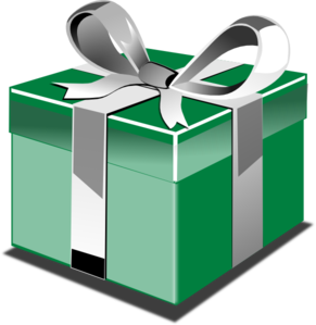 Clipart present vector. Birthday clip art library