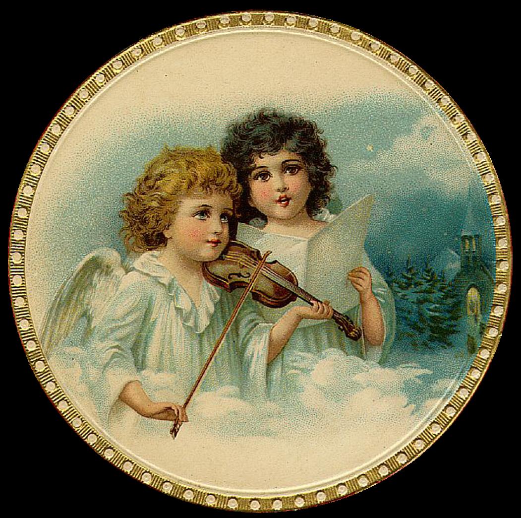 Clipart present vintage. Christmas angels png retro